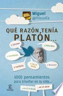 Libro de Qué Razón Tenía Platón