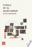 Libro de Crítica De La Modernidad