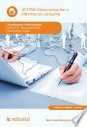 Libro de Documentación E Informes En Consumo. Comt0110