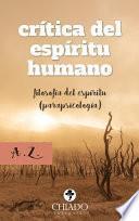 Libro de Crítica Del Espíritu Humano