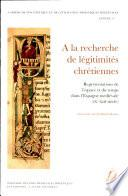 Libro de À La Recherche De Légitimités Chrétiennes