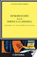 Libro de Introducción A La Poética Clasicista