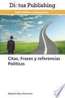 Libro de Citas, Frases Y Referencias Políticas