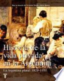 Libro de Historia De La Vida Privada En La Argentina: La Argentina Plural, 1870 1930