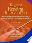 Libro de Targeted Reading Intervention: Student Guided Practice Book Nivel 3 (level 3) (spanish Version)