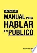 Libro de Manual Para Hablar En Público