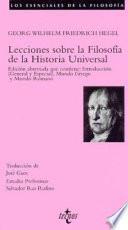 Libro de Lecciones Sobre La Filosofía De La Historia Universal