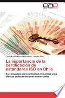 Libro de La Importancia De La Certificación De Estándares Iso En Chile