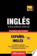 Libro de Vocabulario Español Inglés Americano   9000 Palabras Más Usadas
