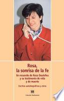 Libro de Rosa, La Sonrisa De La Fe/ Rose, The Smile Of Faith