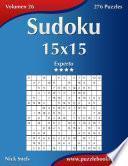 Libro de Sudoku 15×15   Experto   Volumen 26   276 Puzzles