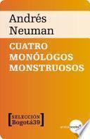 Libro de Cuatro Monólogos Monstruosos