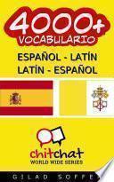 Libro de 4000+ Español   Latín Latín   Español Vocabulario