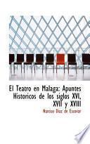 Libro de El Teatro En Malaga