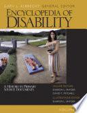 Libro de Encyclopedia Of Disability