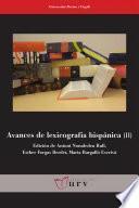 Libro de Avances De Lexicografía Hispánica