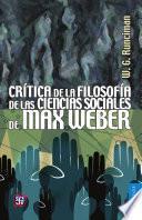 Libro de Crítica De La Filosofía De Las Ciencias Sociales De Max Weber