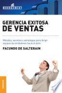 Libro de Gerencia Exitosa De Ventas