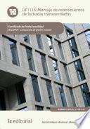 Libro de Montaje De Revestimientos De Fachadas Transventiladas. Iexd0409