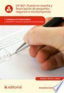 Libro de Puesta En Marcha Y Financiación De Pequeños Negocios O Microempresas. Adgd0210