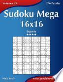 Libro de Sudoku Mega 16×16   Experto   Volumen 33   276 Puzzles