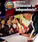 Libro de ¿qué Es La Declaración De Independencia?