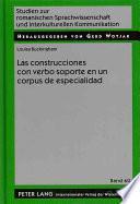 Libro de Las Construcciones Con Verbo Soporte En Un Corpus De Especialidad