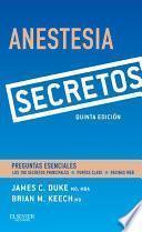 Libro de Anestesia. Secretos
