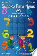 Libro de Sudoku Clásico Para Niños 9×9   De Fácil A Experto   Volumen 8   145 Puzzles