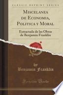 Libro de Miscelanea De Economia, Politica Y Moral