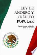 Libro de Ley De Ahorro Y Crédito Popular