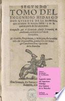 Libro de Segundo Tomo Del Ingenioso Hidalgo Don Quijote De La Mancha