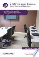 Libro de Tutorización De Acciones Formativas Para El Empleo. Ssce0110