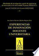 Libro de Resultados De Investigación A Partir De Experiencias De Innovación En La Universidad. El Grupo Indagat