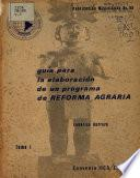 Libro de Guía Para La Elaboración De Un Programa De Reforma Agraria