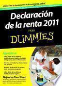 Libro de Declaración De La Renta 2011 Para Dummies