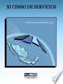 Libro de Xi Censo De Servicios. Censos Económicos 1994