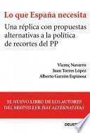 Libro de Lo Que España Necesita