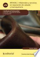 Libro de Materiales Y Servicios En Reparación De Calzado Y Marroquinería. Tcpc0109