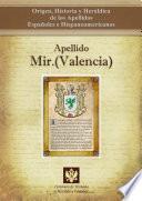 Libro de Apellido Mir.(valencia)