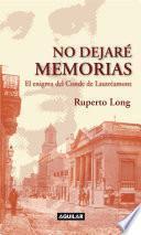 Libro de No Dejaré Memorias
