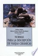 Libro de Normas Para La Descripción De Vasijas Cerámicas