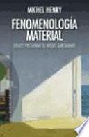 Libro de Fenomenología Material