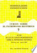 Libro de Actas De Los Xv Cursos Monográficos Sobre El Patrimonio Histórico