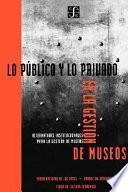 Libro de Lo Público Y Lo Privado En La Gestión De Museos