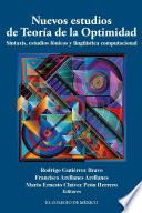 Libro de Nuevos Estudios De Teoría De La Optimidad