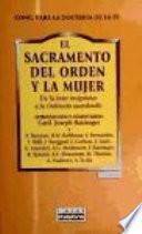 Libro de El Sacramento Del Orden Y La Mujer