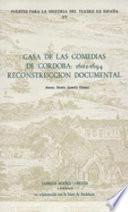 Libro de Casa De Las Comedias De Cordoba, 1602 1694
