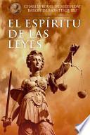 Libro de El Espíritu De Las Leyes
