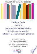 Libro de Cuadernos Teóricos Bolonia. Derecho De Familia. Cuaderno Iii. Las Relaciones Paterno Filiales: Filiación, Tutela, Guarda, Adopción Y Alimentos Entre Parientes